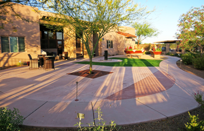 Academy Villas Assisted Living patios